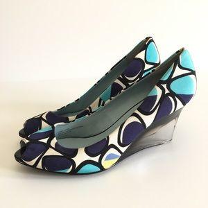 Ellen Tracy Jade Multicolor Heels Wedge